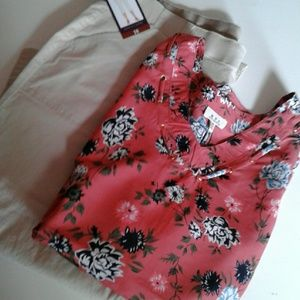 MPH Collections Top Sleeveless Floral 3X NWT